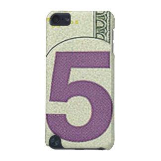 Caso del tacto de iPod de 5 billetes de dólar