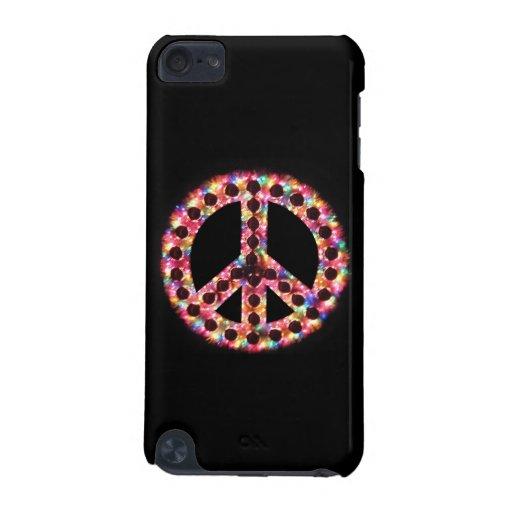 caso del tacto de IPod de la paz 5-Color