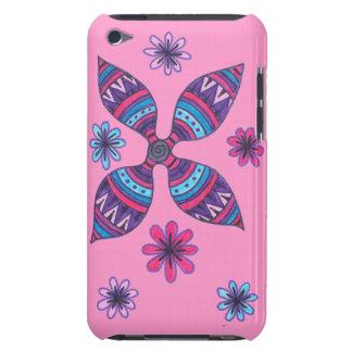 Caso del tacto de iPod de las flores del extracto  iPod Case-Mate Cobertura