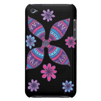 Caso del tacto de iPod de las flores del extracto  iPod Touch Case-Mate Carcasa