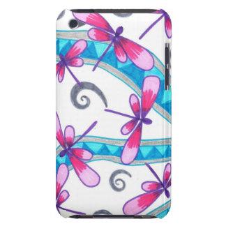 Caso del tacto de iPod de las libélulas iPod Case-Mate Protectores