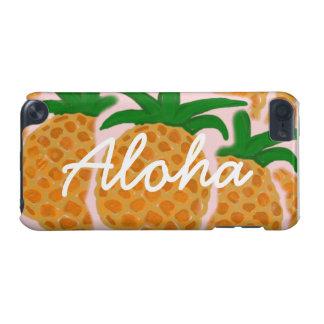 Caso del tacto de iPod de las piñas de la hawaiana Funda Para iPod Touch 5G