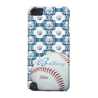 Caso del tacto de IPod del adorno del béisbol de B Funda Para iPod Touch 5G