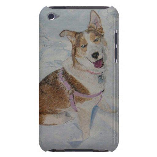 Caso del tacto de iPod del husky siberiano iPod Touch Case-Mate Protector