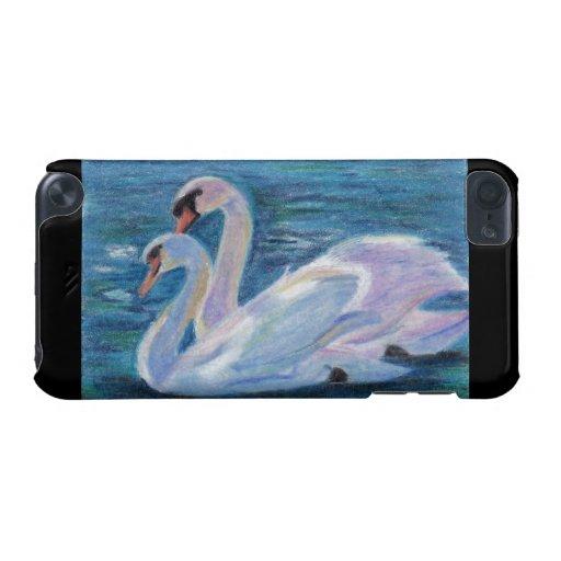 Caso del tacto de IPod del lago swan Funda Para iPod Touch 5G