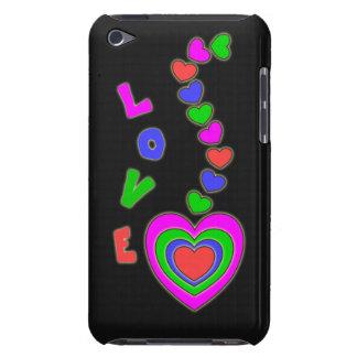 Caso del tacto de iPod del negro del amor de los c iPod Touch Protector