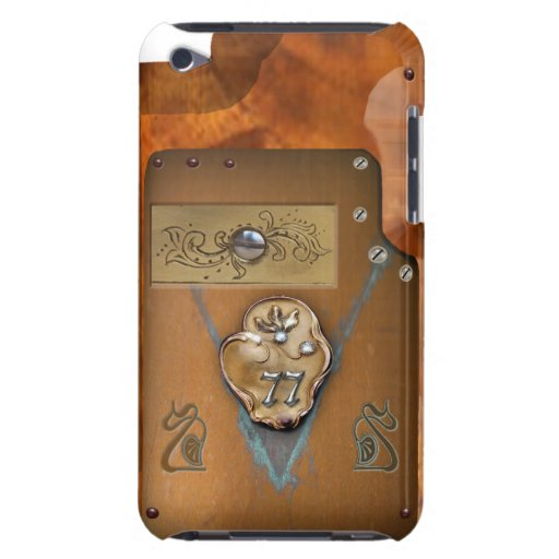 Caso del tacto de iPod del número 77 de Steampunk iPod Case-Mate Cárcasas