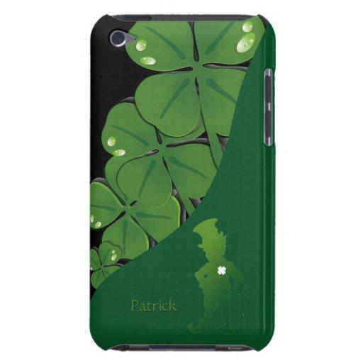 Caso del tacto de iPod del trébol de St Patrick Ir iPod Touch Protectores