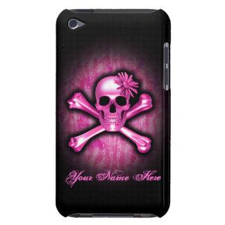 Caso del tacto del cromo de iPod rosado del cráneo Funda Para iPod De Case-Mate