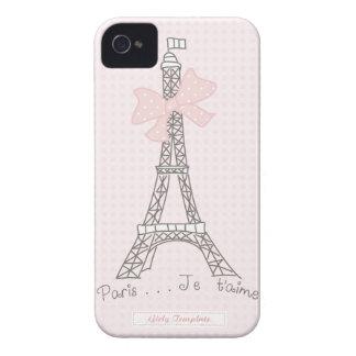 Caso del t'aime del je de París iPhone 4 Case-Mate Carcasas