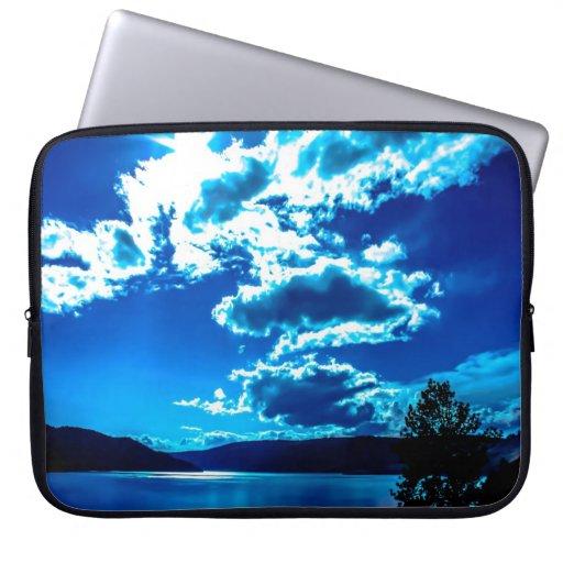 Caso del top del revestimiento del cielo azul fundas computadoras