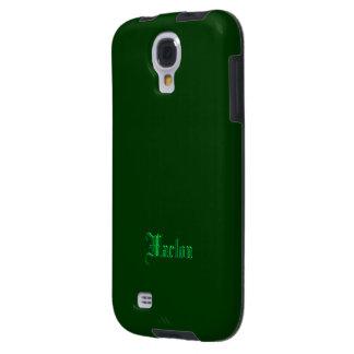 Caso del verde de la galaxia s4 de Marlon Samsung Funda Para Galaxy S4