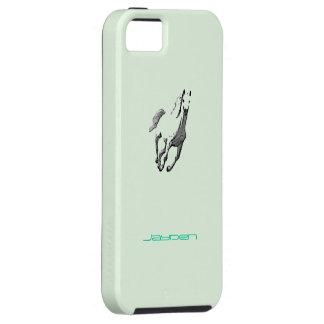 Caso del verde del caballo salvaje del iPhone 5 de iPhone 5 Fundas