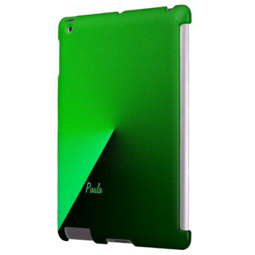 Caso del verde del ipad de Paula