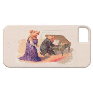 Caso del vintage de la diversión - pianista y iPhone 5 Case-Mate protector