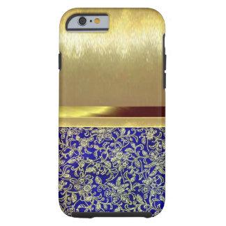 caso delgado del diseño del oro de Shell del Funda De iPhone 6 Tough
