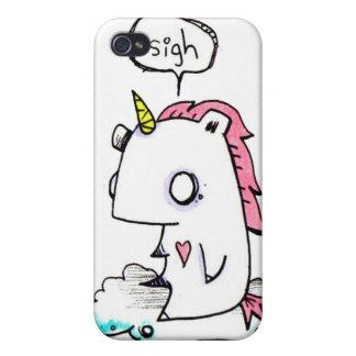 Caso deprimido de Iphone del unicornio por EMI Boz iPhone 4 Carcasas