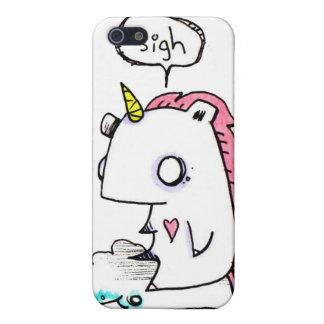 Caso deprimido de Iphone del unicornio por EMI Boz iPhone 5 Carcasas