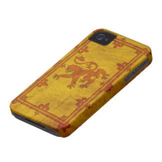 Caso desenfrenado escocés del iPhone 4 del león Case-Mate iPhone 4 Carcasas