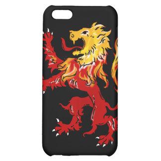 Caso desenfrenado iPhone4 del león ardiente