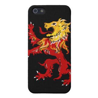 Caso desenfrenado iPhone4 del león ardiente iPhone 5 Protector