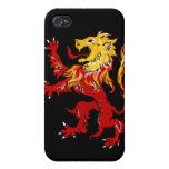 Caso desenfrenado iPhone4 del león ardiente iPhone 4 Fundas