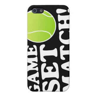 Caso determinado del tenis del partido del juego p iPhone 5 carcasa