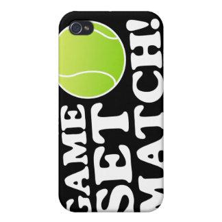 Caso determinado del tenis del partido del juego p iPhone 4/4S carcasa