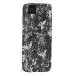 Caso digital del camo del iPhone 4 del gris azul iPhone 4 Cobertura