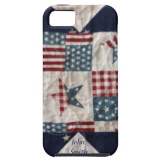 Caso - diseño patriótico #2 del edredón iPhone 5 carcasa