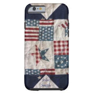 Caso - diseño patriótico #2 del edredón funda de iPhone 6 tough