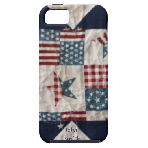 Caso - diseño patriótico #2 del edredón iPhone 5 carcasas