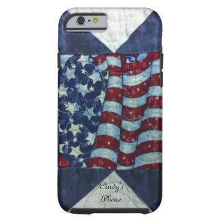 Caso - diseño personalizado patriótico del edredón funda de iPhone 6 tough