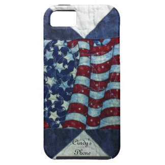 Caso - diseño personalizado patriótico del edredón iPhone 5 cárcasas