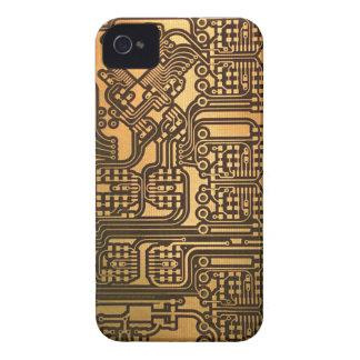 Caso divertido de la placa de circuito iPhone 4 Case-Mate protector