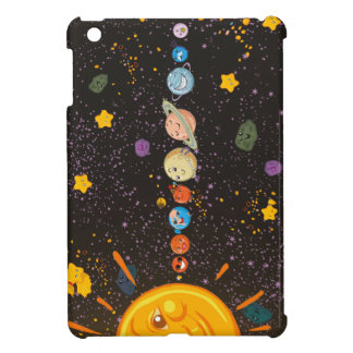 Caso divertido del iPad de los planetas de la Sist iPad Mini Protectores