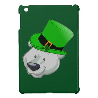 Caso divertido del iPad del oso polar - día del St