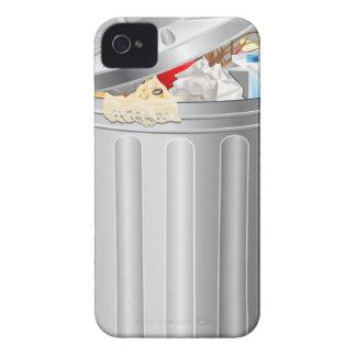 Caso divertido del iPhone 4 del bote de basura iPhone 4 Carcasas