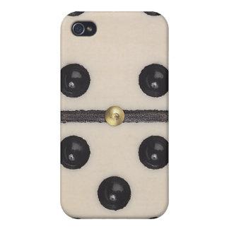 Caso divertido del iPhone 4 del dominó iPhone 4 Protectores