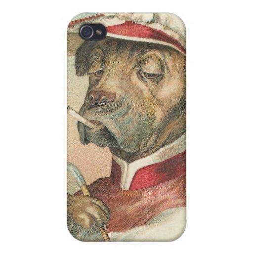 Caso divertido del iPhone 4 del jinete del perro d iPhone 4 Protector
