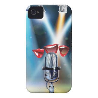 Caso divertido del iPhone 4 del Karaoke iPhone 4 Carcasa