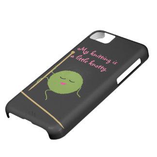 Caso divertido del iPhone 5 del calcetero nudoso Funda Para iPhone 5C
