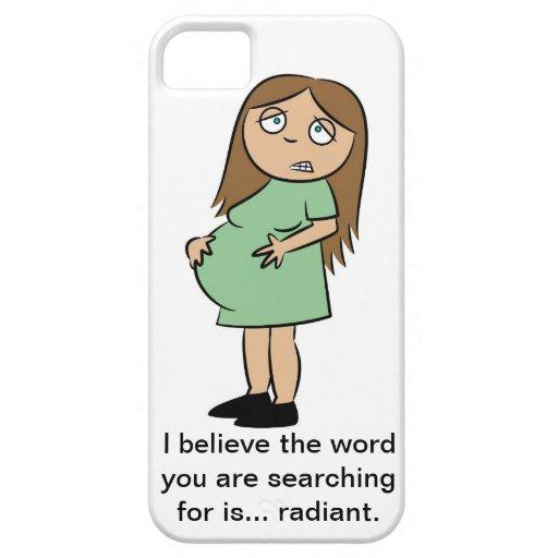 Caso divertido del iPhone 5 del embarazo iPhone 5 Carcasa