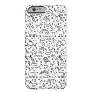 Caso divertido del iPhone 6 del unicornio Funda Barely There iPhone 6