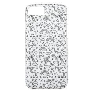 Caso divertido del iPhone 7 del unicornio Funda iPhone 7