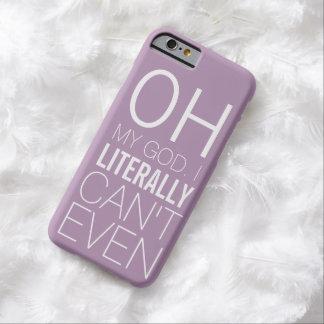 Caso divertido para las señoras que no pueden funda para iPhone 6 barely there