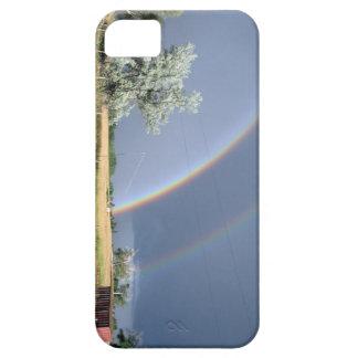 Caso doble de Iphone 5 de los arco iris de iPhone 5 Fundas