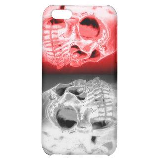 Caso doble del iphone de los cráneos 4 4S