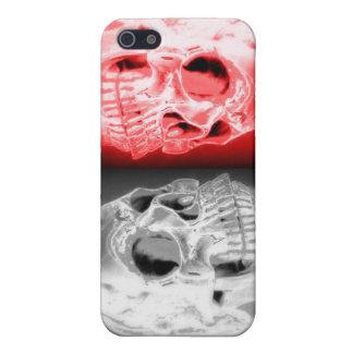 Caso doble del iphone de los cráneos 4 4S iPhone 5 Funda