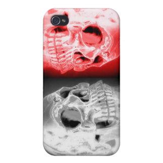 Caso doble del iphone de los cráneos 4 4S iPhone 4 Cobertura